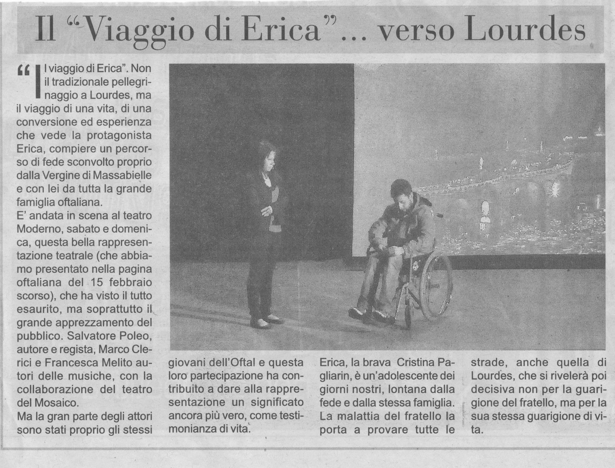 Il Viaggio di Erica - Il Musical