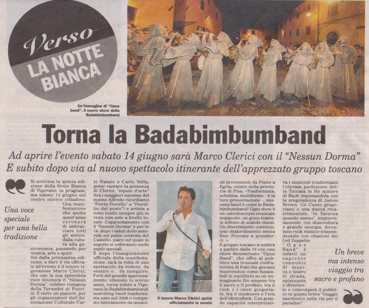 Marco Clerici aprirà e presenterà la Notte Bianca di Vigevano 2014