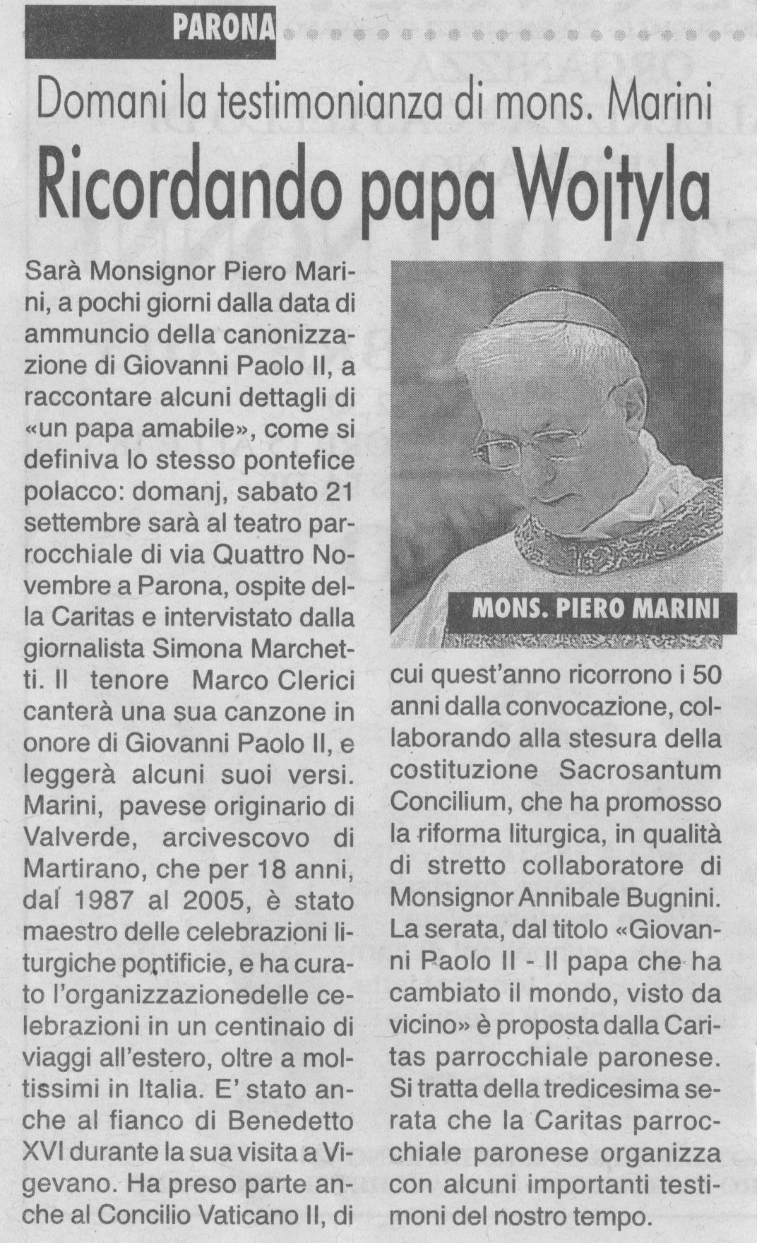 Mons. Marini a Parona