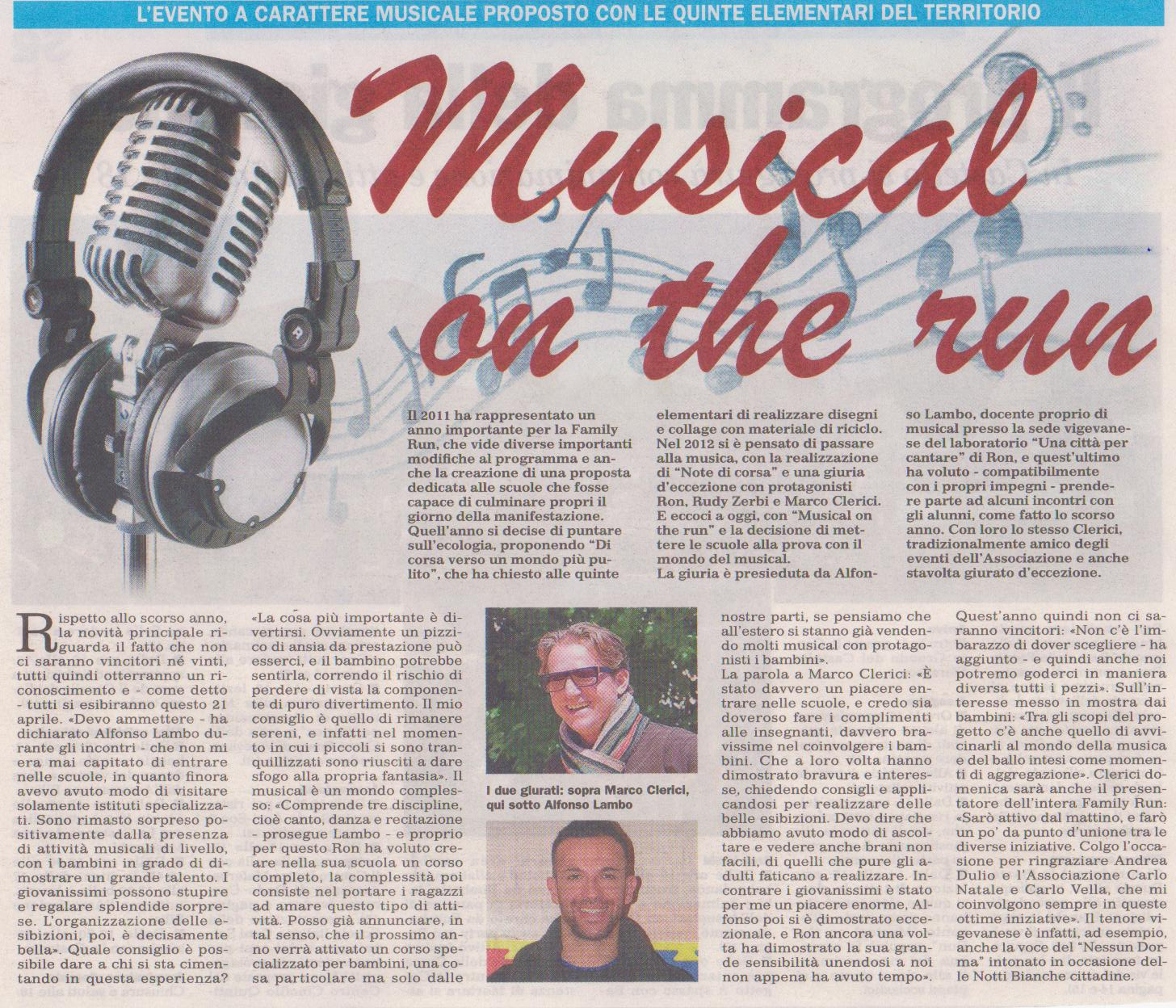 Musical on the run con Alfonso Lambo e Marco Clerici