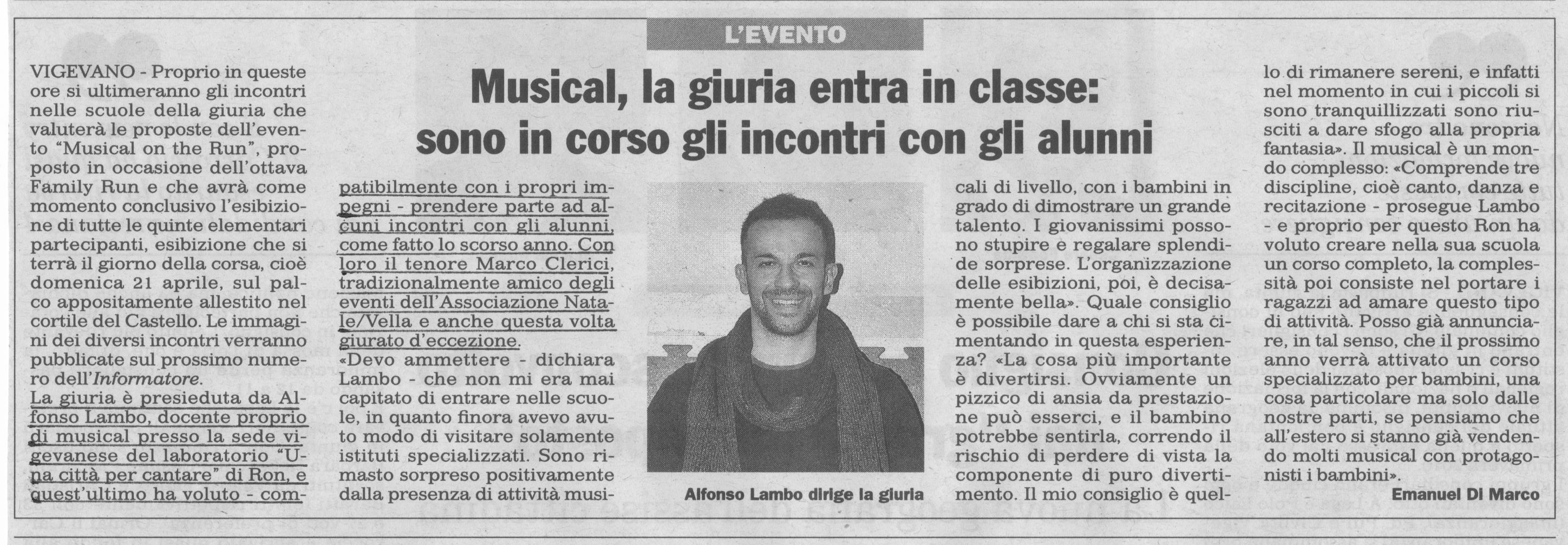 Musical on the Run con Alfonso Lambo, RON e Marco Clerici