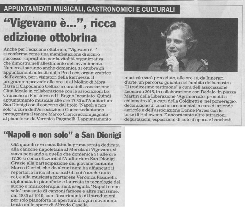 Napoli e non solo con Marco Clerici e Veronica Fasanelli