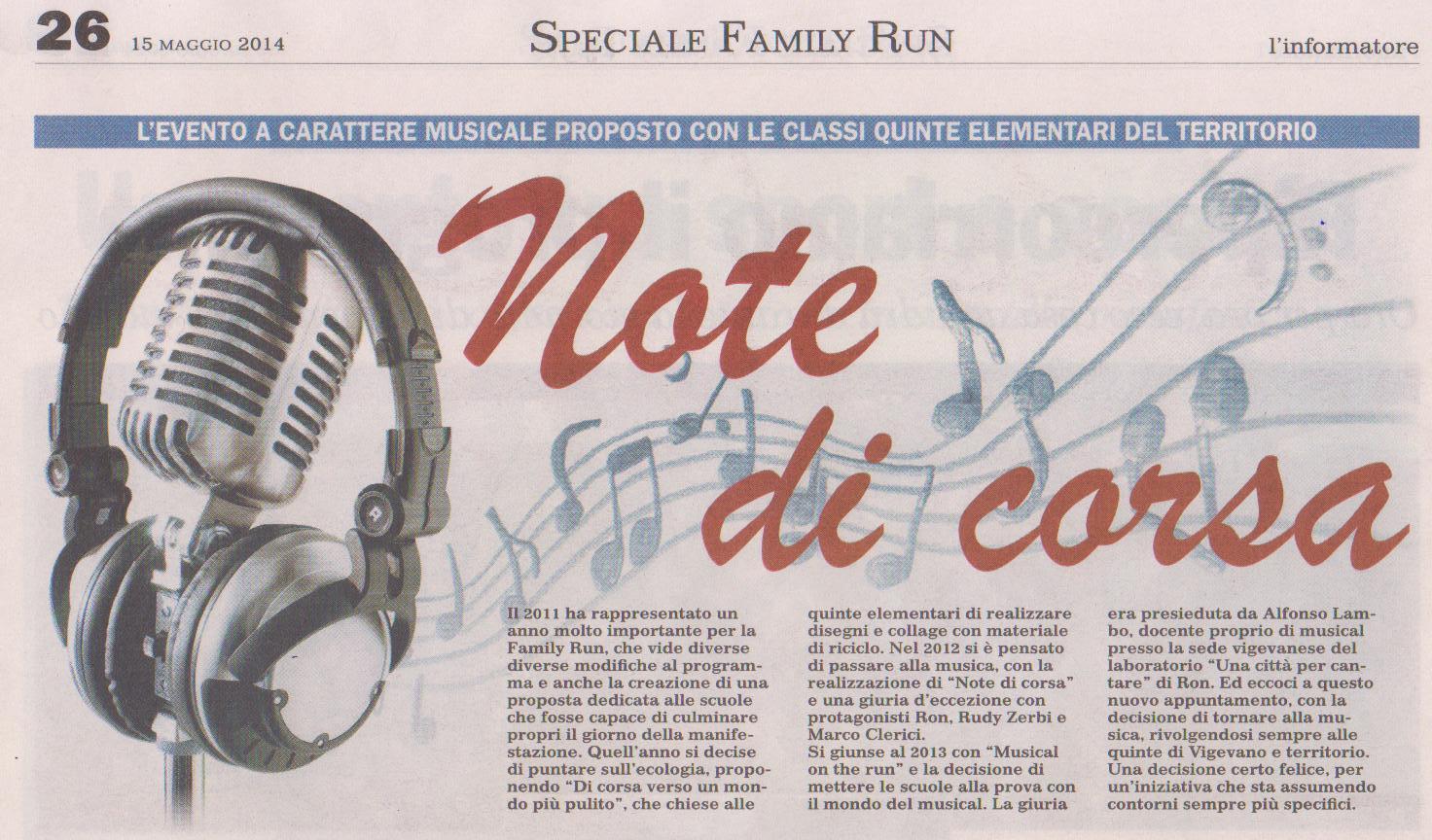 NOTE DI CORSA 2014