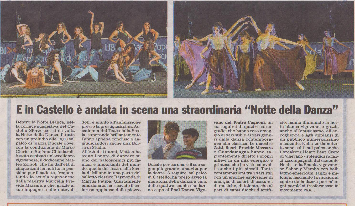 Marco Clerici presenta la grande danza in Castello a Vigevano