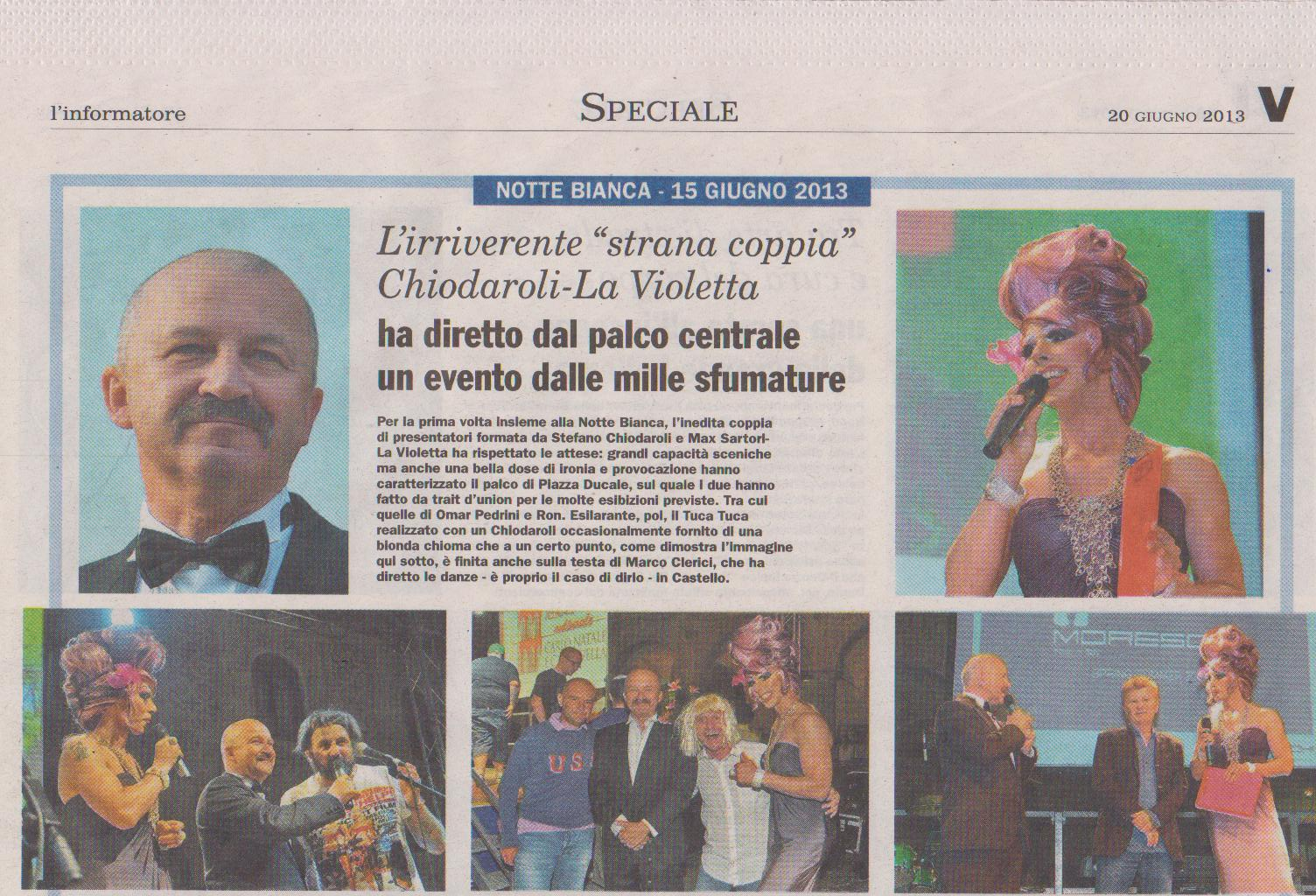 Stefano Chiodaroli, la Violetta, Omar Pedrini, Marco Clerici e RON