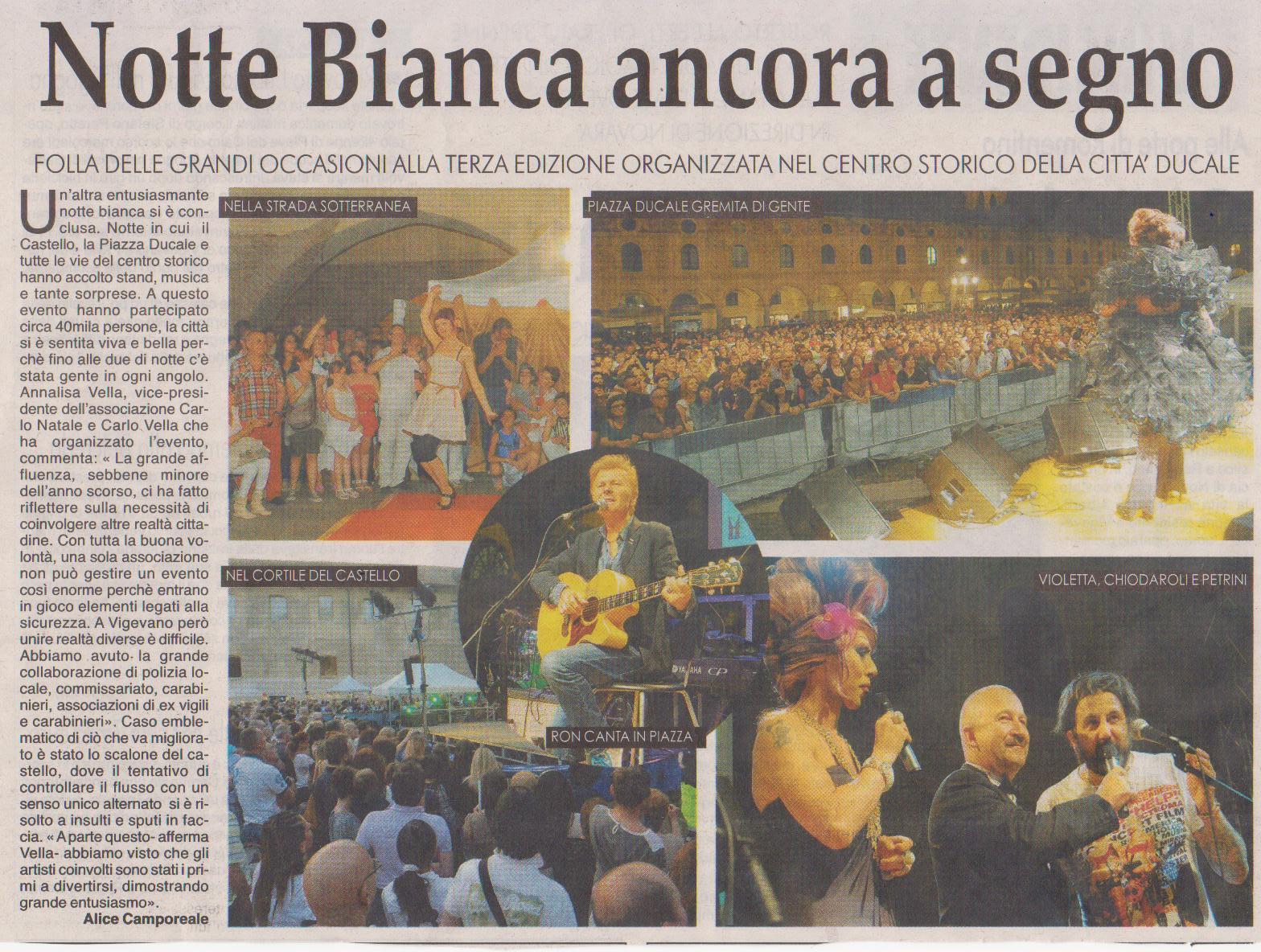 Grande Successo per la Notte Bianca 2013 in PIazza Ducale a Vigevano