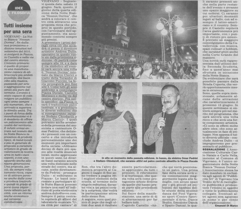 Omar Pedrini, Stefano Chiodaroli e Marco Clerici per la Notte Bianca 2013