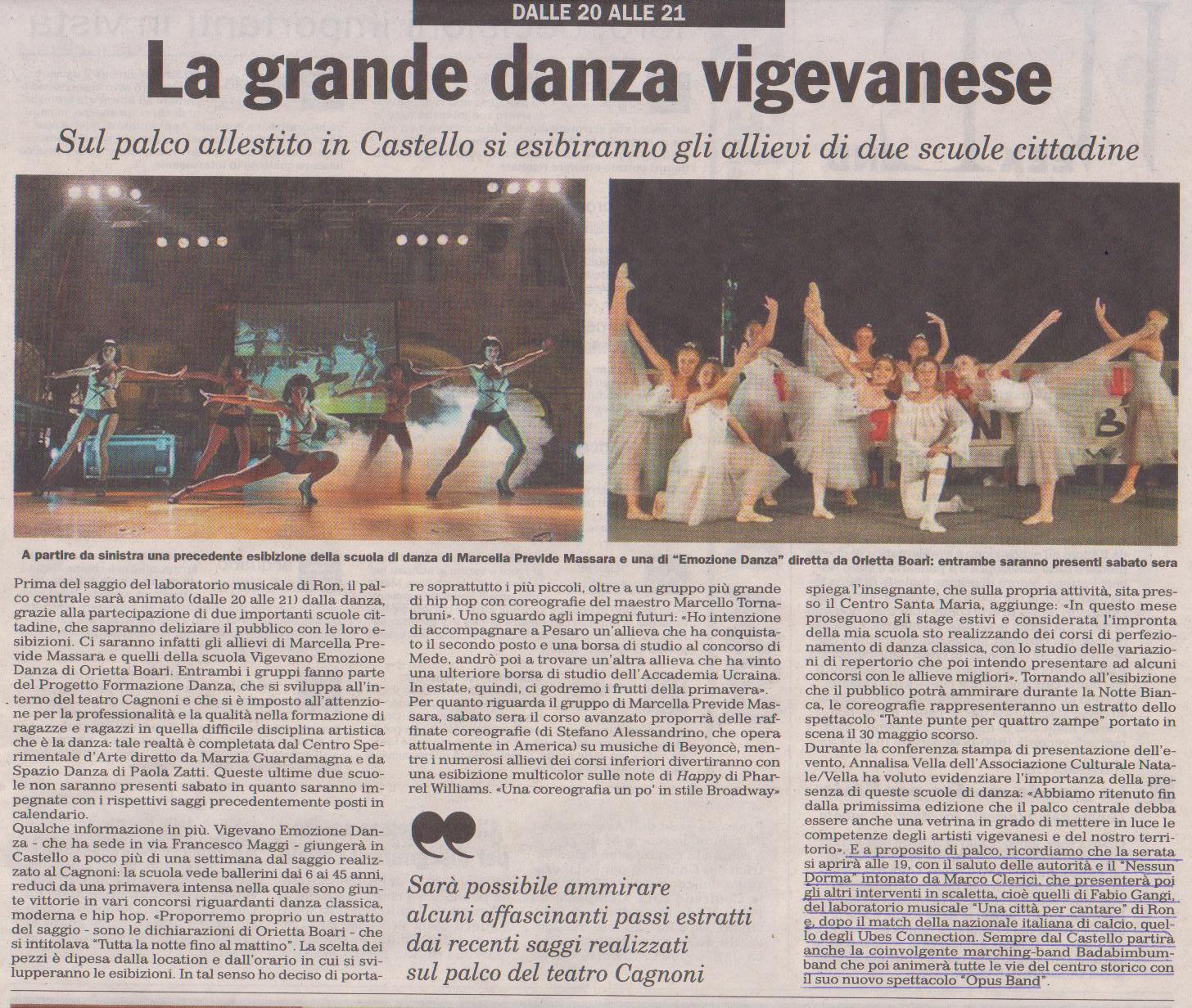 La Grande Danza e la presentazione di Marco Clerici