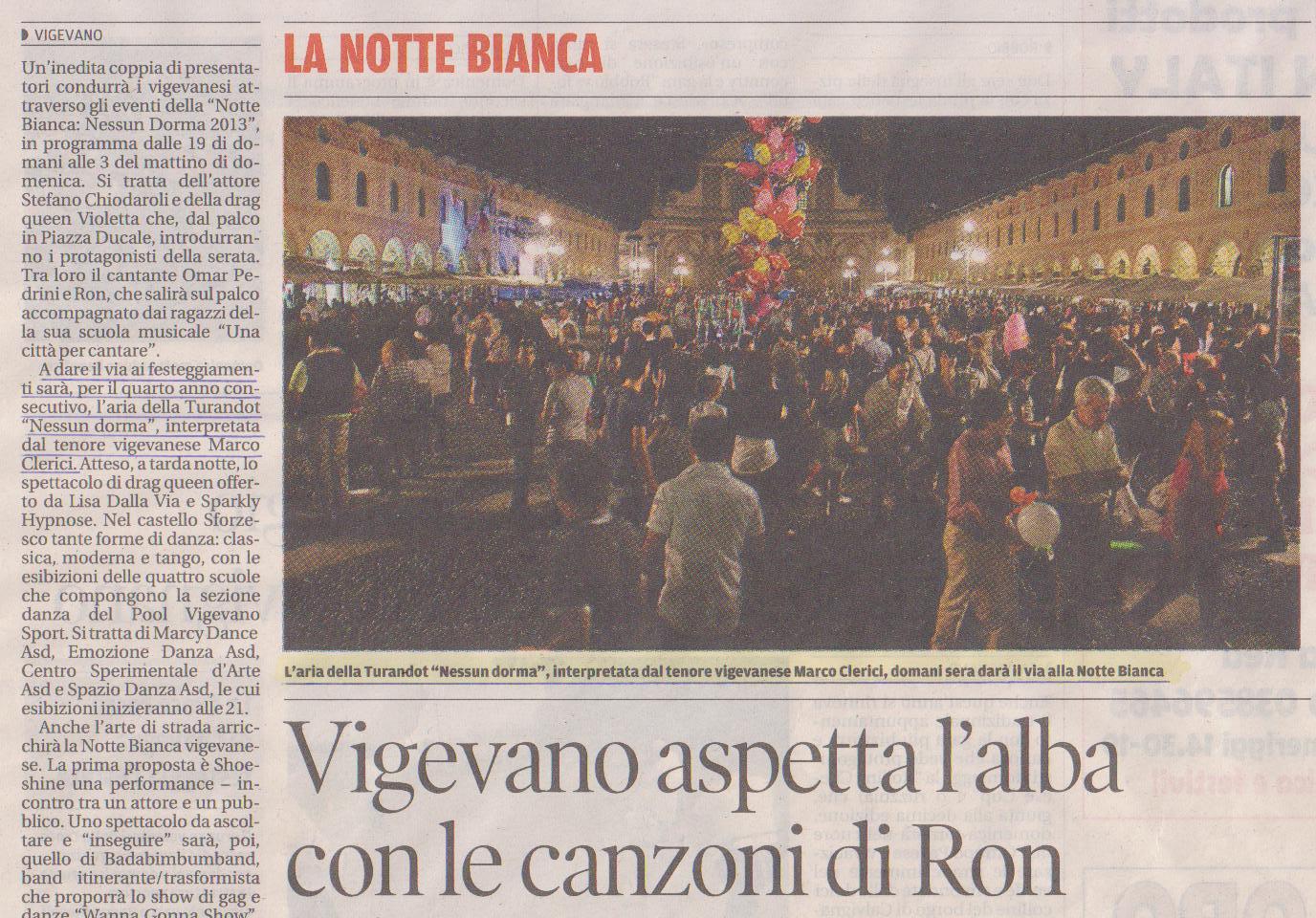 Notte Bianca 2013 a Vigevano Piazza Ducale