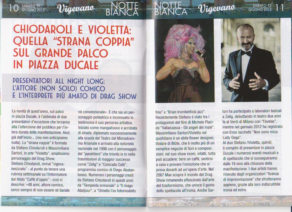 Stefano Chiodaroli e la Violetta alla Notte Bianca 2013 di Vigevano