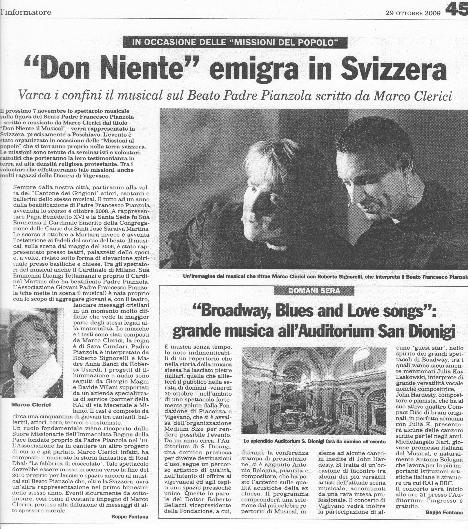 Don Niente - Il Musical in Svizzera