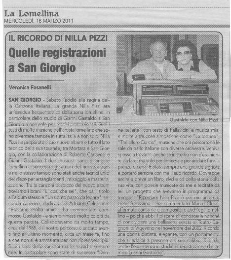 Nilla Pizzi il ricordo di Marco Clerici