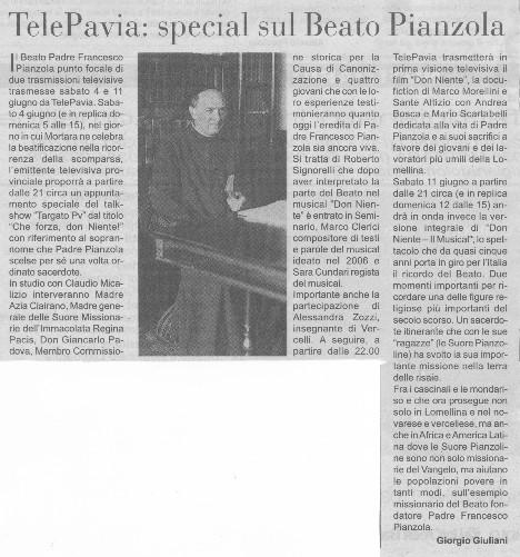 Don Niente - Il Musical su TELEPAVIA