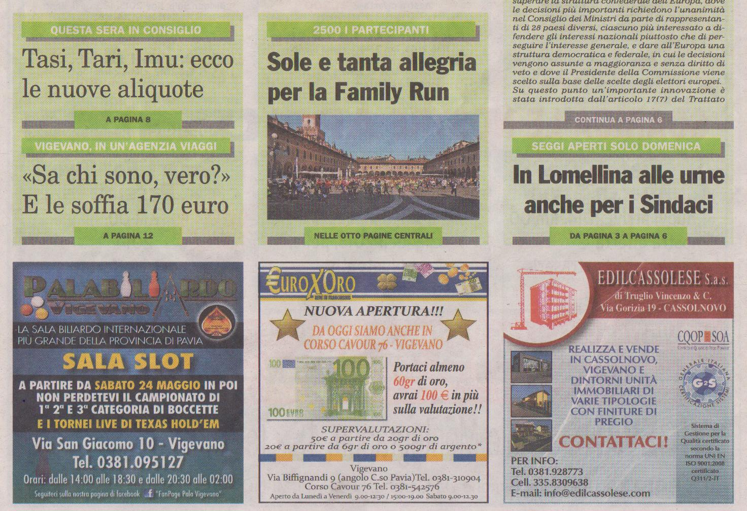 FAMILY RUN IN PRIMA PAGINA