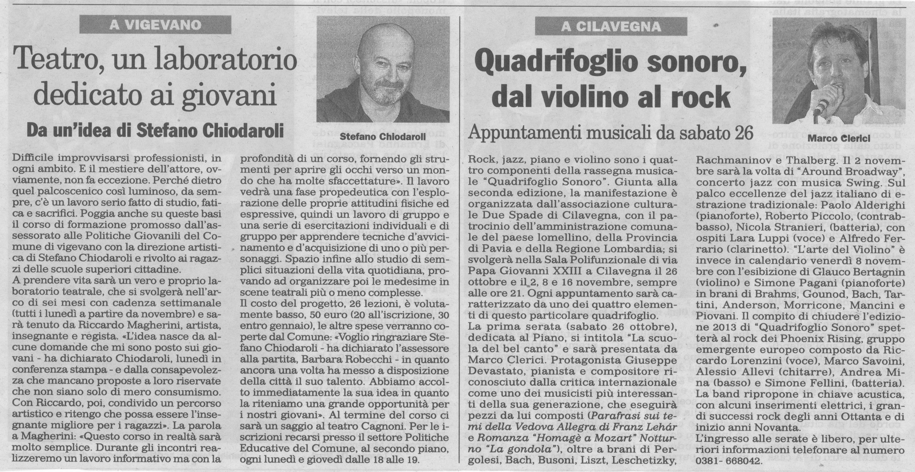 Quadrifoglio Sonoro a Cilavegna - Presenta Marco Clerici
