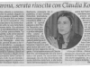 Claudia Koll a Parona con Marco Clerici