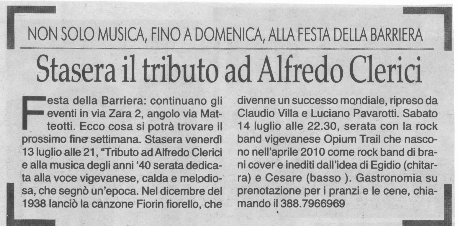 Tributo ad Alfredo Clerici