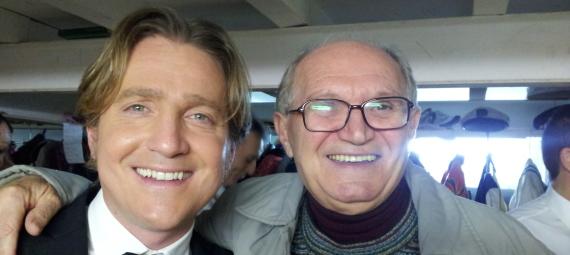 Marco Clerici con il regista Mario Lino (I Legnanesi)