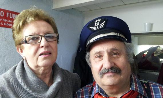 Maria Rosa (costumista) con Teresio Papetti (Artemio)
