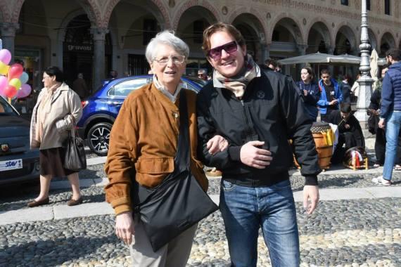 Marco Clerici con la Regina Margherita anima della manifestazione