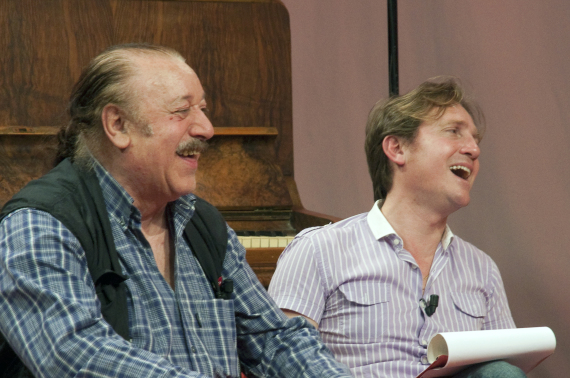 Marco Clerici con Bruno Castiglia durante la trasmissione
