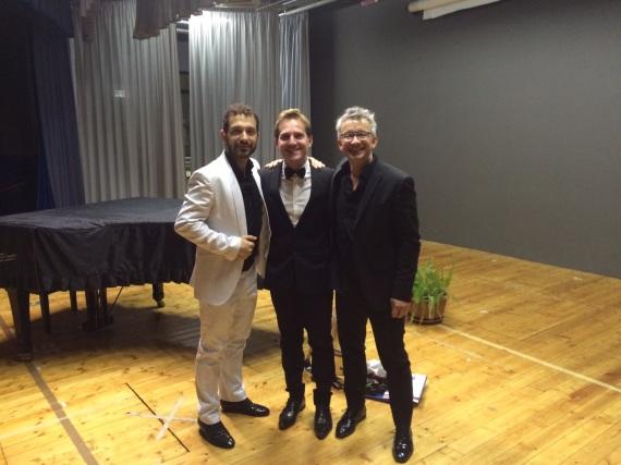 Marco Clerici con Denis Biancucci e Domenico Menini